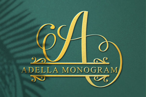 Print on Demand: Adella Monogram Script & Handwritten Font By niyos.studio