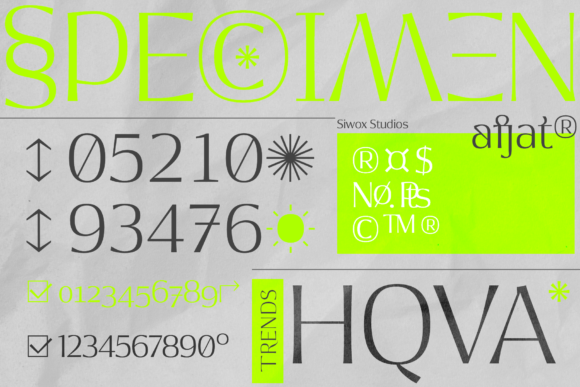 Print on Demand: Afjat Display Font By SiwoxS