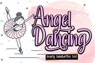 Print on Demand: Angel Dancing Script & Handwritten Font By Supersemar Letter
