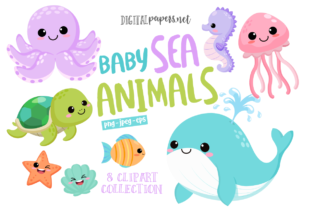 Print on Demand: Baby Sea Animals Graphic Illustrations By DigitalPapers