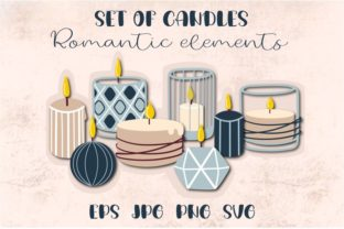 Print on Demand: Candles Burning Candle Clipart Graphic Illustrations By Art's and Patterns