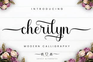 Print on Demand: Cherilyn Script & Handwritten Font By Manjalistudio