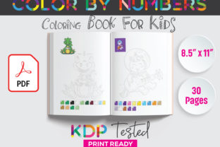 Color by Numbers Coloring Book KDP Graphic KDP Interiors By GraphicTech360