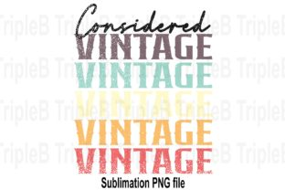 Print on Demand: Considered Vintage Distress Sublimation Graphic Illustrations By TripleBcraft