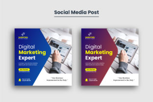Corporate Social Media Post Template Graphic Web Elements By vectorsource