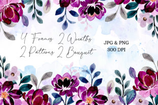 Print on Demand: Digital Clipart Floral Watercolor Part23 Graphic Illustrations By asrulaqroni