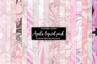 Print on Demand: Digital Paper Agate Pink Graphic Patterns By The Rose Mind