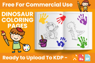 Print on Demand: Dinosaur Coloring Book for Kids - KDP Graphic Coloring Pages & Books Kids By Trend Color