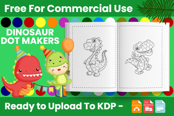 Print on Demand: Dinosaur Dot Markers Activity Book Graphic Coloring Pages & Books Kids By Trend Color