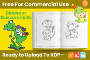 Print on Demand: Dinosaur Scissors Skills Book for Kids Graphic Coloring Pages & Books Kids By Trend Color