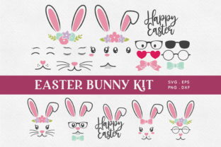 Easter Bunny Face Kit Svg Png Eps Graphic Crafts By peachycottoncandy