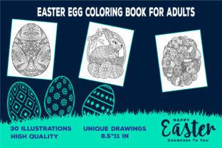 Easter Egg Coloring Book for Adults (KDP) Graphic Coloring Pages & Books Adults By KDP-WARRIOR