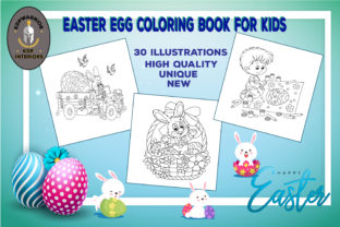 Easter Egg Coloring Book for Kids (KDP) Graphic Coloring Pages & Books Kids By KDP-WARRIOR