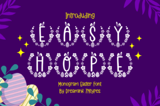 Print on Demand: Easy Hope Decorative Font By Dreamink (7ntypes) 1