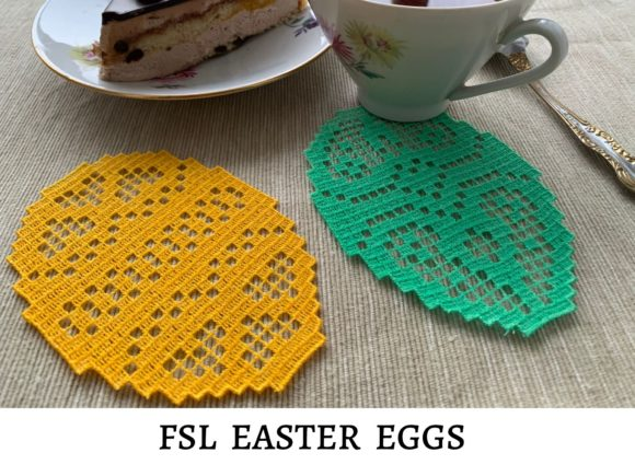 FSL Easter Eggs Easter Embroidery Design By EmbDesigns