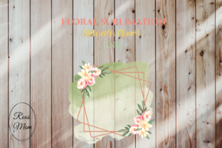 Floral Frame Background Sublimation Graphic Illustrations By roosmom
