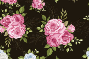 Floral Seamless Pattern with Roses Graphic Patterns By Darren Studio