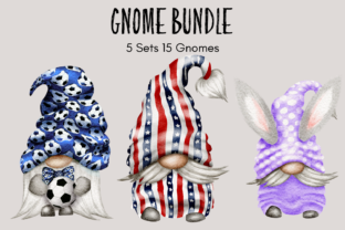 Print on Demand: Gnome Bundle Grafik Illustrationen von Celebrately Graphics
