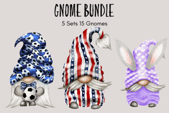 Print on Demand: Gnome Bundle Graphic Illustrations By Celebrately Graphics