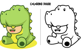 Print on Demand: Green Dinosaur Cosplay Graphic Crafts By Fype Co.