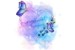 Print on Demand: Inspirational Quote Butterfly Frame Graphic Illustrations By RainbowDesigns