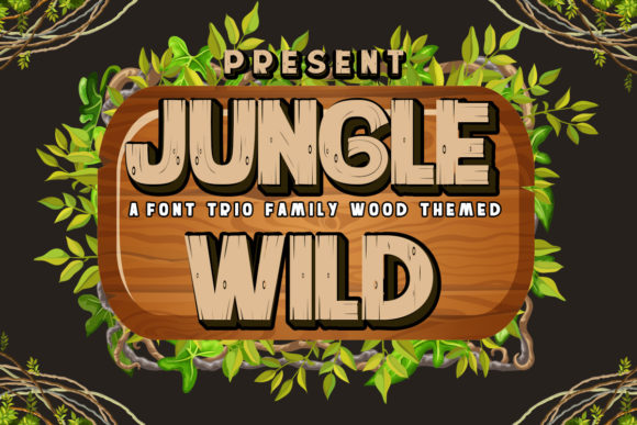 Print on Demand: Jungle Wild Display Font By edwar.sp111