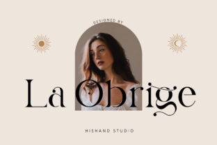 Print on Demand: La Obrige Serif Font By Hishand studio