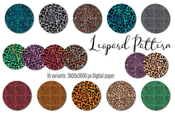 Print on Demand: Leopard Seamless Pattern Background Graphic Patterns By ElenaZlataArt