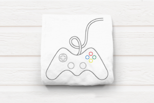Linework Video Game Controller Games & Leisure Embroidery Design By DesignedByGeeks