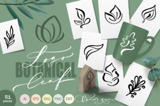 Logo Botanical Leaf SVG Graphic Objects By Happy Letters