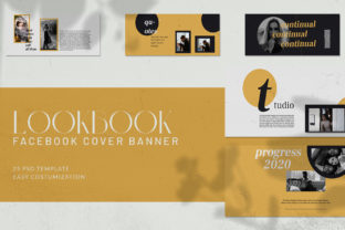 Lookbook Facebook Cover Banner Graphic Web Elements By qohhaarqhaz