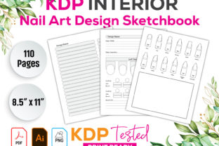 Nail Art Design Sketchbook KDP Interior Graphic KDP Interiors By GraphicTech360