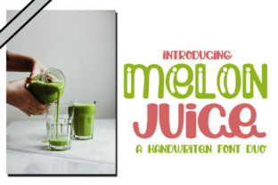 Print on Demand: Melon Juice Display Font By edwar.sp111
