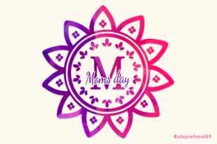 Print on Demand: Moms Day Decorative Font By utopiabrand19