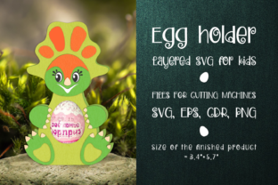 Print on Demand: Montanoceratops - Chocolate Egg Holder Graphic 3D SVG By Olga Belova