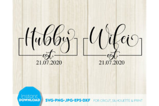 Mr and Mrs Est 2021 Mr & Mrs Sign Graphic Crafts By March Design Studio