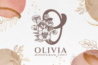 Print on Demand: Olivia Monogram Decorative Font By Graphicxell