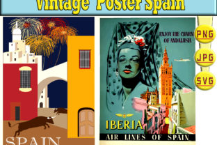 Print on Demand: POSTER SPAIN VINTAGE Graphic Illustrations By kdp Edition