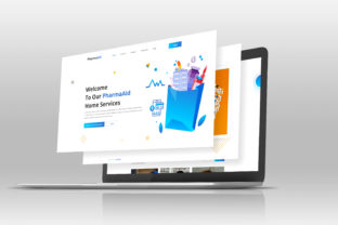 Pharmacy Landing Page Design Graphic Landing Page Templates By bhawlad