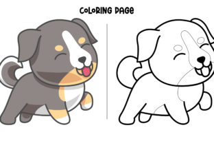 Print on Demand: Playful Bernese Puppy Graphic Crafts By Fype Co.