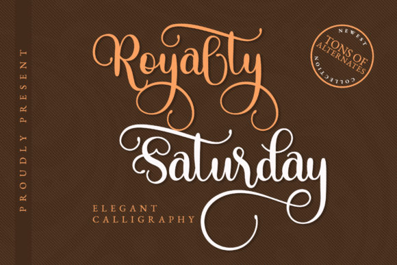 Print on Demand: Royalty Saturday Script & Handwritten Font By airotype