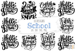 School Quotes Bundle, Student Quotes SVG Graphic Crafts By dapiyupi