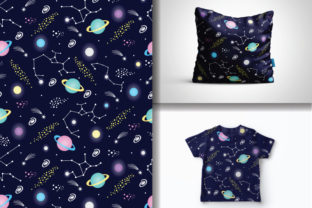 Seamless Constellations Pattern Graphic Patterns By lindoet23