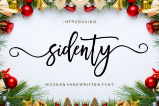 Print on Demand: Sidenty Script & Handwritten Font By Ladyrose