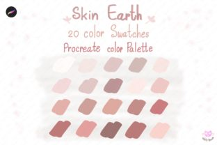 Print on Demand: Skin Tone Beige Procreate Color Palette Graphic Actions & Presets By idelotama