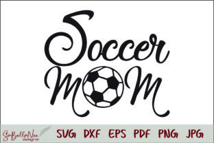 Soccer Mom Graphic Print Templates By SaBellaNee Designs