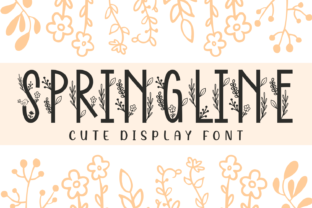 Print on Demand: Springline Display Font By Dreamink (7ntypes)
