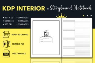 Print on Demand: Storyboard Notebook - KDP Interior Graphic KDP Interiors By KDP King