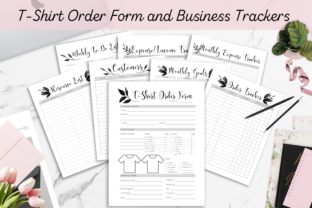 Print on Demand: T-Shirt Order Form & Business Trackers Graphic Print Templates By Hustle Smart Shop