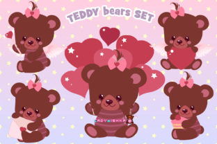 Print on Demand: Teddy Bear Set Graphic Illustrations By ladymishka